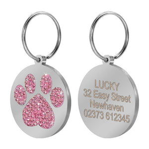 Personalized Glitter ID Tags, - PlushDoggies