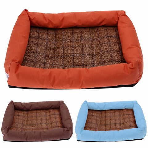 Image of Pet Bamboo Cooling Mat Bed For Dogs, - PlushDoggies