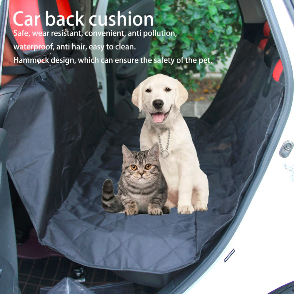 Pet Dog Car Rear Bench Back Seat Cover Mat, - PlushDoggies