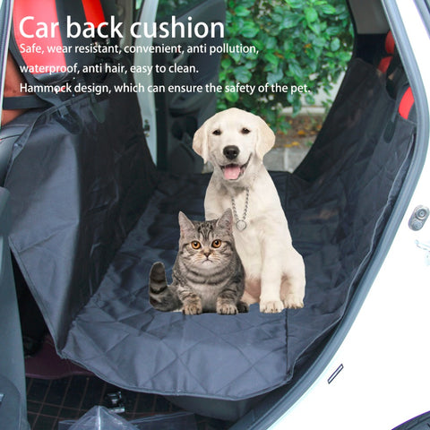Image of Pet Dog Car Rear Bench Back Seat Cover Mat, - PlushDoggies
