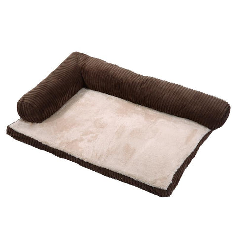 Soft Pet Dog Bed Sofa Detachable Corduroy House