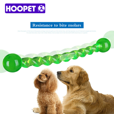 HOOPET Dog Teeth Stick Dog Toys Environmental Food Grade TPR Material Tooth Cleaning Chew Treat Play toy, - PlushDoggies