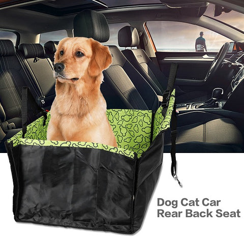 Pet Dog Cat Car Rear Back Seat Carrier Cover, - PlushDoggies
