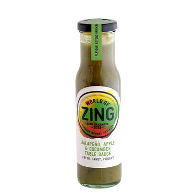 Jalepeno, Apple & Cucumber Table Sauce by World of Zing