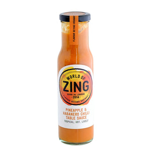 Pineapple & Habanero Table Sauce by World of Zing