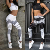 Abstract Yoga Pants and Bra (Bundle)