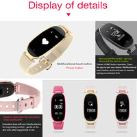 Waterproof Fitness Tracker w/ Heart Rate Monitor Smartwatch in different color