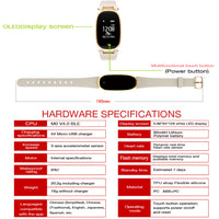 Hardware Specifications for the Waterproof Fitness Tracker w/ Heart Rate Monitor Smartwatch