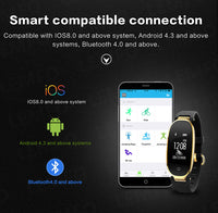 Waterproof Fitness Tracker w/ Heart Rate Monitor Smartwatch