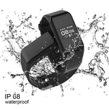 Waterproof Black Smart Band Activity Tracker with Real-time Heart Rate Monitor