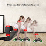 Four-Wheeled Exercise Equipment for Core Strength