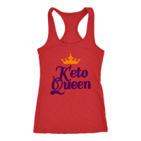 "Red ""Keto Queen"" Raceback Tank"