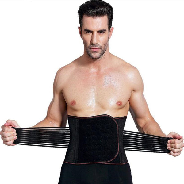 Steel Bone Black Men's Compression Belt to help you loose weight