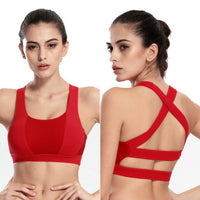 Red High Impact Support Gym Bra