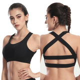 Black High Impact Support Gym Bra
