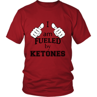 "Red ""I am fueled by Ketones"" Unisex Keto T-Shirt"