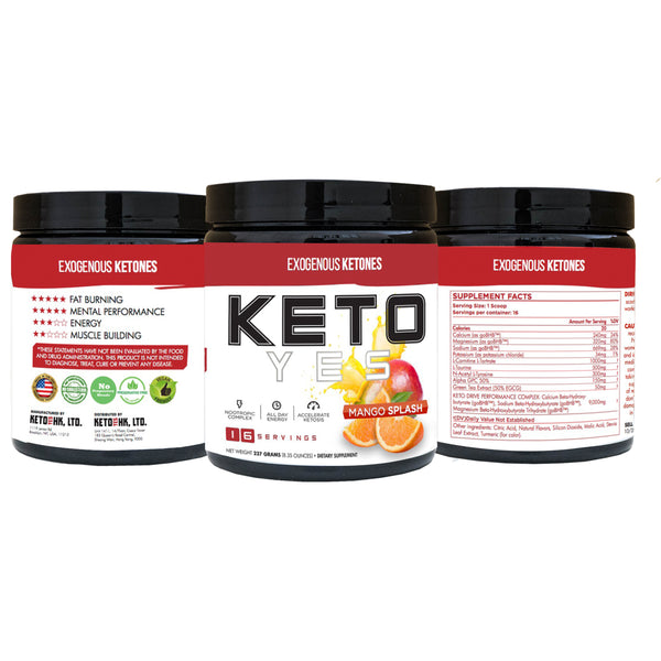 KetoYes Exogenous Ketones with Brain Enhancing Formula