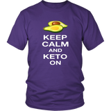 Purple Keep Calm and Keto On T-shirt