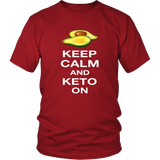 Red Keep Calm and Keto On T-shirt