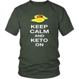 Olive Keep Calm and Keto On T-shirt