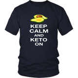 Navy Keep Calm and Keto On T-shirt