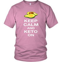 Pink Keep Calm and Keto On T-shirt