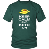 Dark Green Keep Calm and Keto On T-shirt