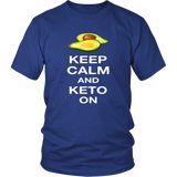 Royal Blue Keep Calm and Keto On T-shirt