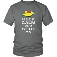 Grey Keep Calm and Keto On T-shirt
