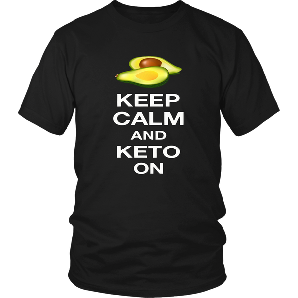 Black Keep Calm and Keto On T-shirt