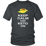 Charcoal Keep Calm and Keto On T-shirt