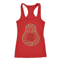 Red Keto Avocado Racerback Tank