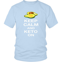 Ice Blue  Keep Calm and Keto On T-shirt