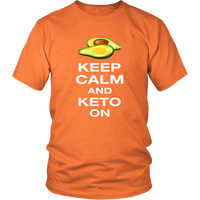 Orange  Keep Calm and Keto On T-shirt