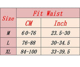 Sizing guide for the Tummy Trimmer Belt and waist trainer