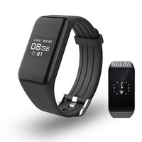 Black Smart Band Activity Tracker with Real-time Heart Rate Monitor