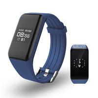 Blue Smart Band Activity Tracker with Real-time Heart Rate Monitor