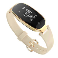 Gold Waterproof Fitness Tracker w/ Heart Rate Monitor Smartwatch