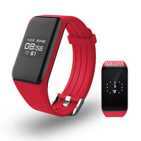 Red Smart Band Activity Tracker with Real-time Heart Rate Monitor