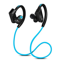 Blue colored Wireless Waterproof Sports Earphones
