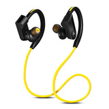 Yellow Colored Wireless Waterproof Sports Earphones