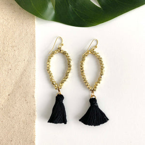 Dew Drop Tassel Earrings