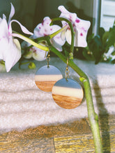 Three-Tier Wood and Resin Earrings