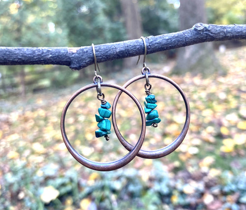 Malachite Hoops
