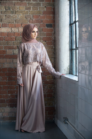Aaliya Collections stunning lace cape abaya