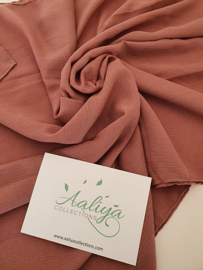 Polyester Ribbed Hijab - Dusty Pink