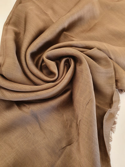 Silk Blend Hijab - Brown