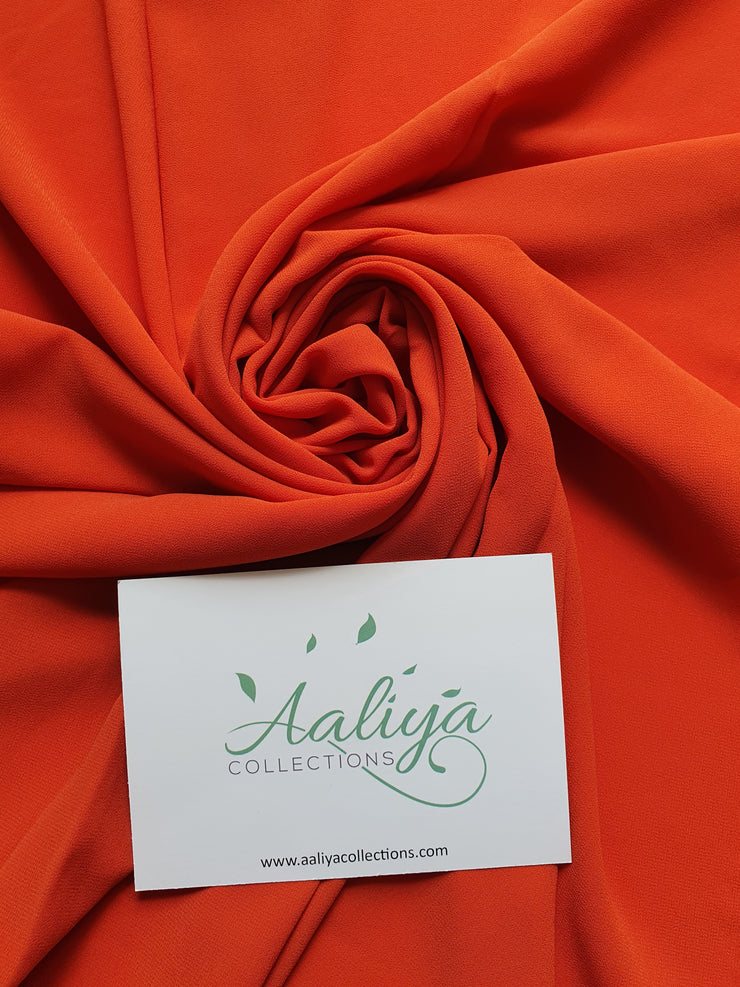 Aaliya Collections Chiffon Hijab - Burnt Orange