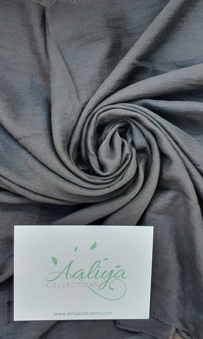 Cotton Linen Hijab - Black