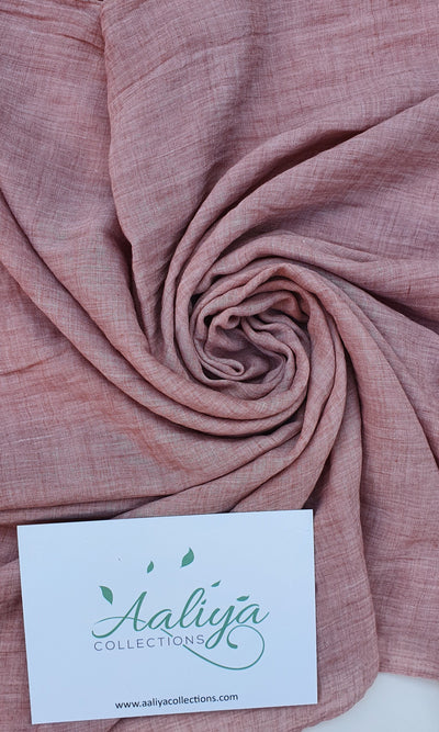 Aaliya Collections Cotton Linen Hijab - Powder Pink